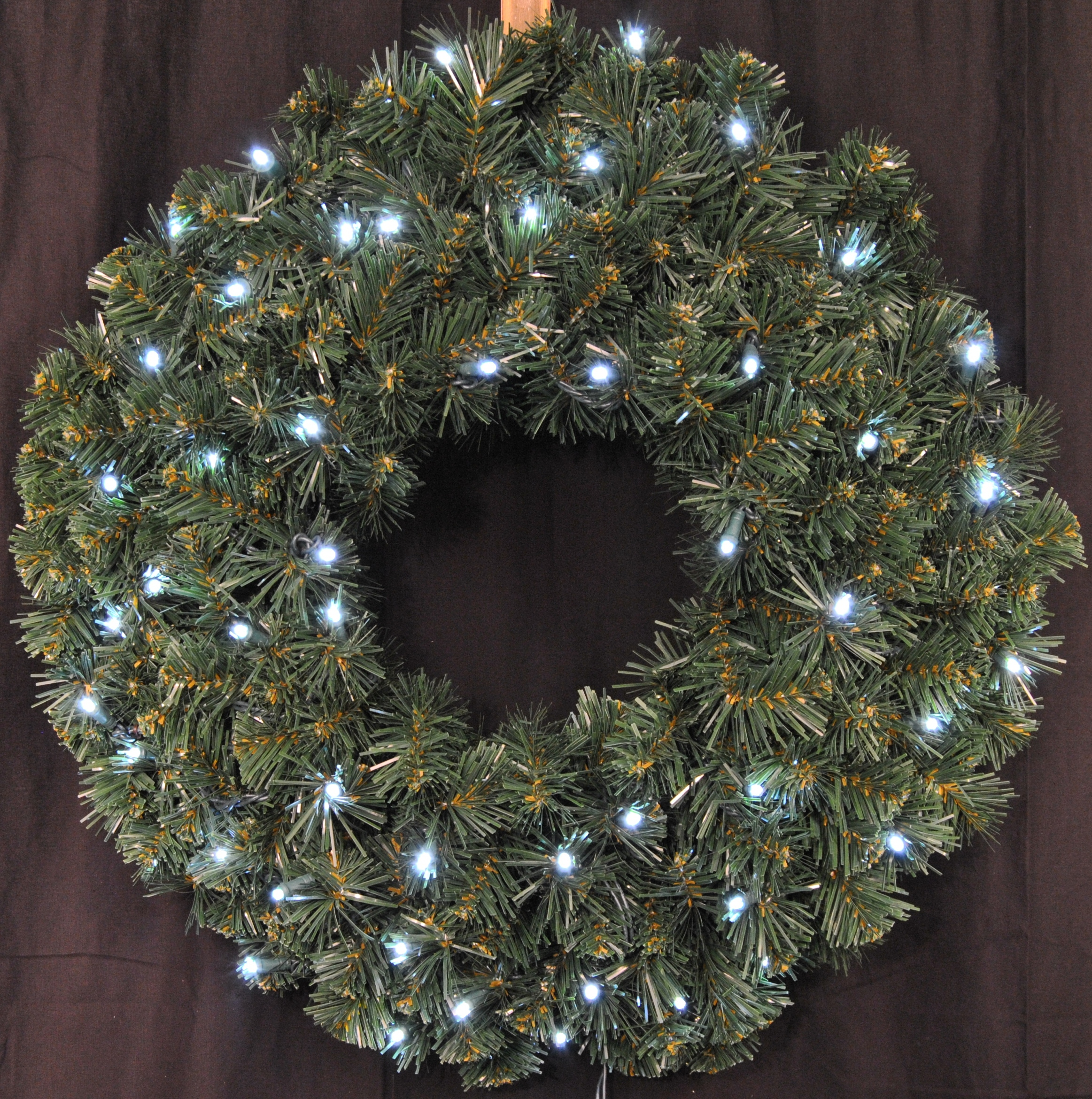 3' Pre-Lit Battery Operated Cool White LED  Sequoia Wreath