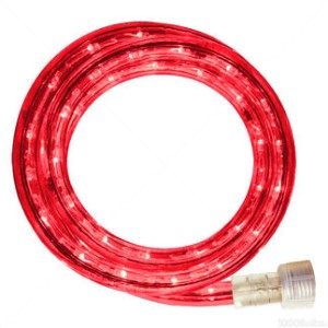 10MM 18' Spool of Red LED Ropelight