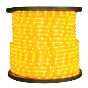 10MM 12 Volt 150' spool of Yellow LED Ropelight