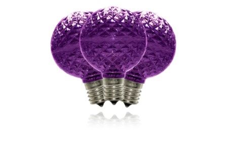 G50 Non-Dimmable Purple Commercial Retrofit Bulb with an E17 Base and 5 Internal LED Chip