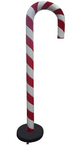 7' Candy Cane with Base
