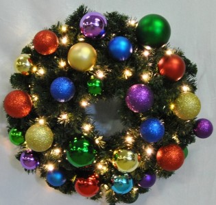 6' Pine Wreath Decorated with The Royal Ornament Collection