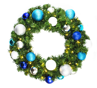 4' Sequoia Wreath Decorated with The Arctic Ornament Collection