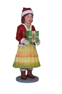 Life Size Caroler Daughter