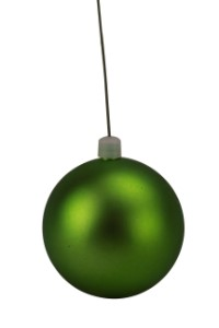 60mm Matte Lime Green Ball Ornament with Wire, UV Coated