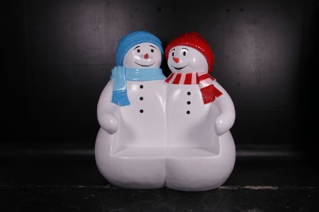 Double Snowman Seat Bench