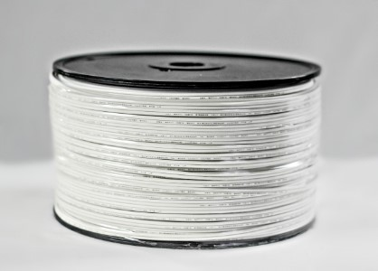 500' Spool of SPT-1 White Zipcord