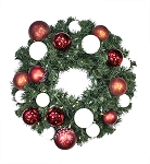 4' Sequoia Wreath Decorated with The Candy Ornament Collection Pre-Lit Warm White LEDS