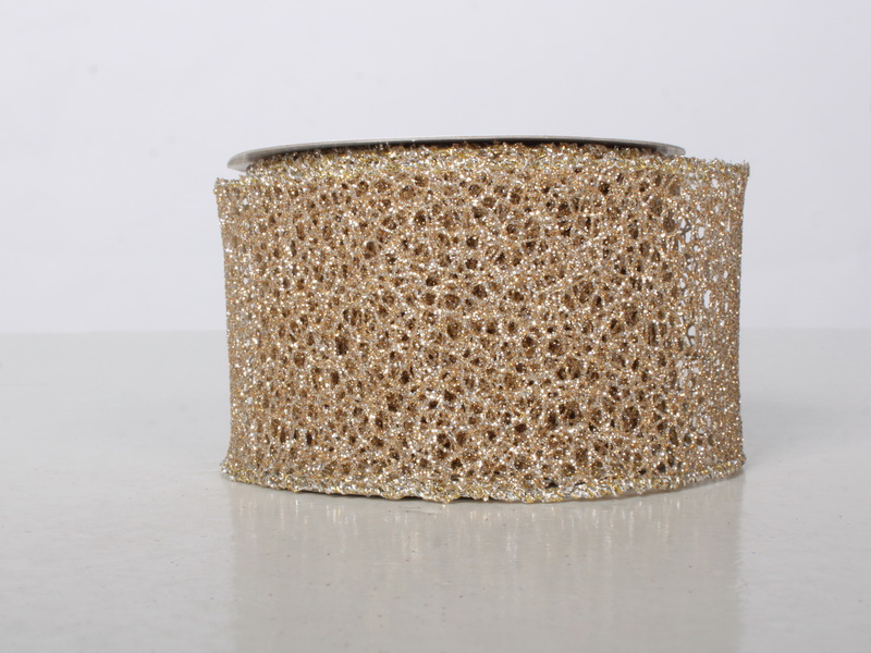 2.5' WIDE 10 YARDS CHAMPAGNE RIBBON