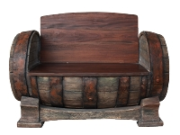 Whiskey Barrel Bench