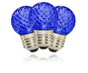 G40 Non-Dimmable Blue Commercial Retrofit Bulb with an E26 Base and 10 Internal LED Chips