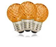 G40 Non-Dimmable Orange Commercial Retrofit Bulb with an E26 Base and 10 Internal LED Chips