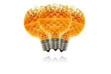 G50 Non-Dimmable Orange Commercial Retrofit Bulb with an E17 Base and 5 Internal LED Chip