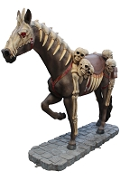BROWN SKELETON HORSE
