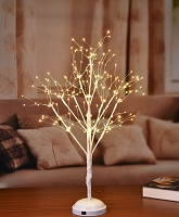 2' LED TREE WITH WARM WHITE LIGHTS