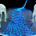 Blue LED Waterfall Lights