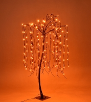 4' Orange LED Halloween Willow Tree