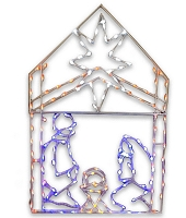 5.5' Iron Frame Nativity Scene with Lights
