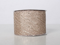 2.5' WIDE 10 YARDS LIGHT CHAMPAGNE RIBBON