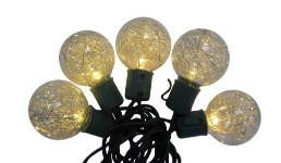 10 G40 Warm White LED Lights with Gold Tensal