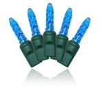 M5 4'x6' Blue LED Net Lights with Green Wire