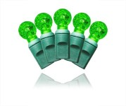 70 Count Standard Grade G12 Faceted Green LED Light Set with In-Line Rectifer 4