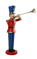 6' RED/BLUE TOY SOLDIER WITH TRUMPET