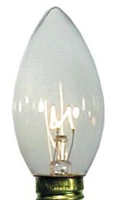 C9 Dimmable Incandescent Transparent Clear Bulbs E17 Base