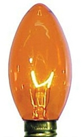 C9 Dimmable Incandescent Transparent  Orange/Amber Bulbs E17 Base