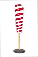 Mini Red And White Upside Down Candy Cone Tree