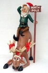 Funny Reindeer with Elf