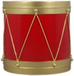 3' Red and Gold Drum