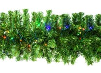 9' Sequoia Garland Pre-Lit with Multi Colored LEDs