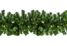 9' Sequoia Garland Pre-Lit with Warm White LEDs