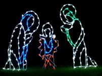 LED Three Piece Nativity Scene Ground Mount