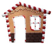 8' Front Panel for Gingerbread House