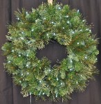 2' Blended Pine Wreath Pre-Lit with Pure White LEDS
