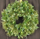 2' Blended Pine Wreath Pre-Lit with Warm White LEDS