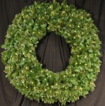 5' Blended Pine Wreath Pre-Lit with Warm White LEDS