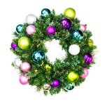 2' Pre-Lit Warm White LED Sequoia Wreath Decorated with the Victorian Ornament Collection