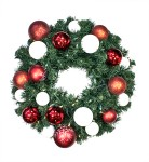 3' Sequoia Wreath Decorated with The Candy Ornament Collection Pre-Lit Warm White LEDS