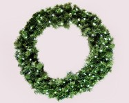 3' Sequoia Wreath Pre-Lit with Pure White LEDS