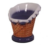 Blue Ice Cream Sundae Chair