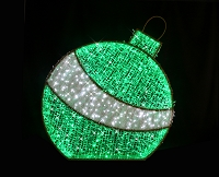 6' GREEN 3D ORNAMENT NEON FLEX GROUND MOUNT