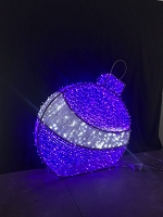 6' PURPLE 3D ORNAMENT NEON FLEX GROUND MOUNT