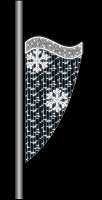 6' POLE MOUNT CURTAIN WITH 2 SNOWFLAKES