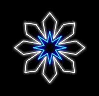 3' SNOWFLAKE PURE WHITE/BLUE