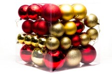 62 Pack Red and Gold Ball Ornaments