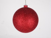 140mm Red Glitter Ball Ornament with Wire
