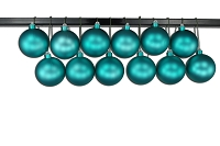 100mm Aqua Matte Ball Ornament with Wire